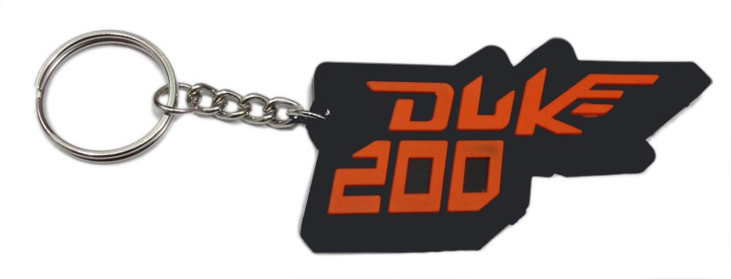 Aditya Traders Duke 200 Rubber Logo Ring Key Chain(Orange)