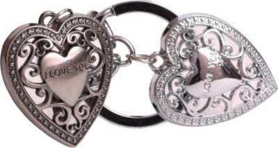 Spotdeal SDL670 I LOVE YOU dual heart Full metal keychain Carabiner