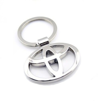 Indiashopers Toyota Metallic Ring Key Chain