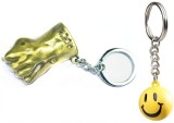 Confident Gold HAND and Smily Key Chain ...