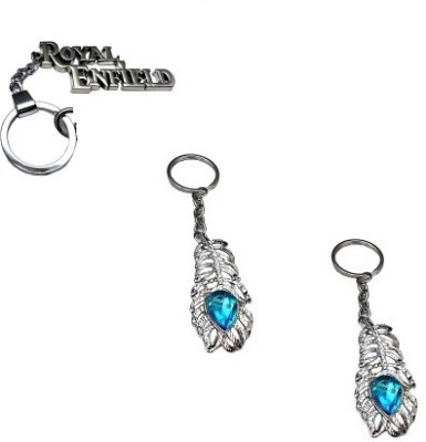 Abzr Combo Of Royal Enfield And Omg Key chain Key Chain