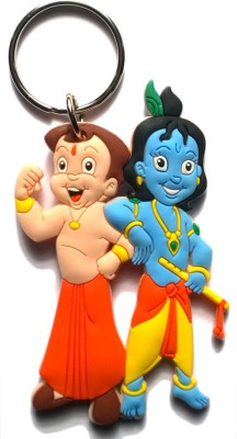 AA Retail Chhota Bheem Bal Krishna Double Side Silicone Key Chain