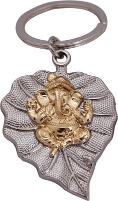 Zeroza Leaf Ganesha Full Metal IDL10 Key Chain