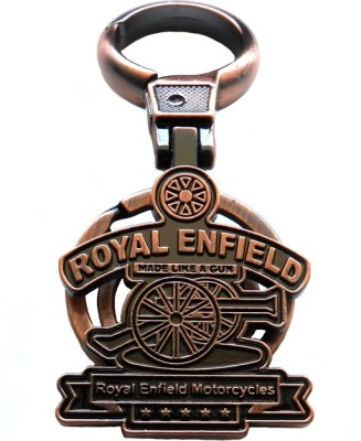 Techpro Metal Copper Color Royal Enfield Motorcycles Locking Key Chain