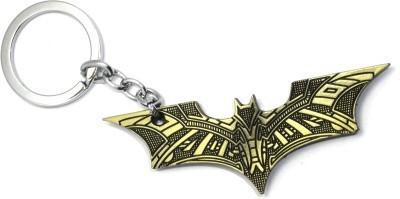 Optimus traders Batman Justice league bat texture logo gold Metal Keychain Key Chain