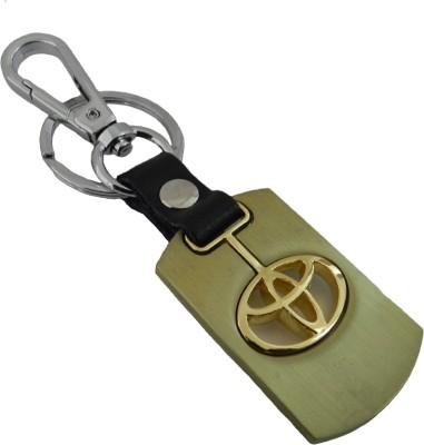 Techpro Gold Colour Toyota Locking Key Chain
