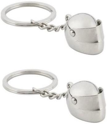 Confident Set Of Two 02 Metal Helmet Key Chain
