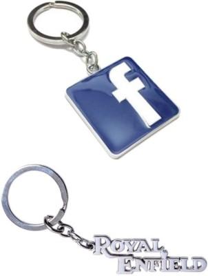 Alexus Facebook And Royal Enfield Metal Key Chain