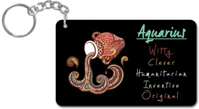 Lovely Collection Zodiac Sign Aquarius Key Chain