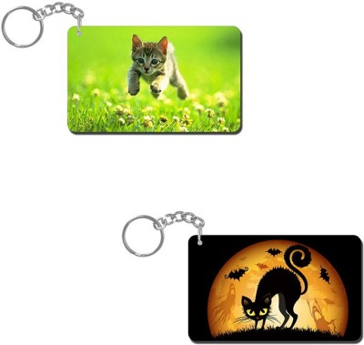 Lovely Collection Cat Playing Key Chain