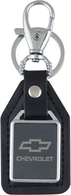PARRK Chevorlet logo mirror leather Locking Key Chain