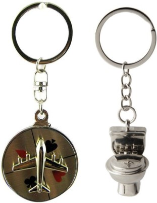 Alexus Aeroplane And Commode Key Chain