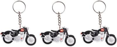 FCS Royal Enfield Bike Shape 3D Rubber Key Chain