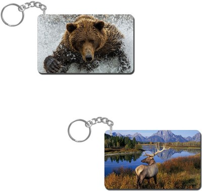 Lovely Collection Bear Water Bath Key Chain