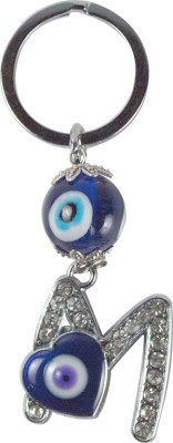 Forty Creek Letter M With Heart Key Chain