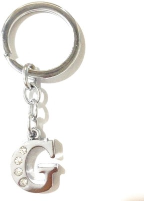99DailyDeals R45 Alphabet G High Quality Chrome Metal Finish Keyring Key Chain