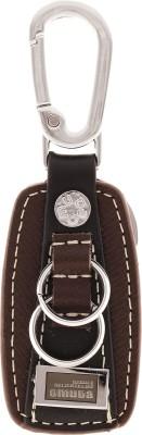 VeeVi Omuda Premium Oval Leather Hook Key Chain Locking Carabiner