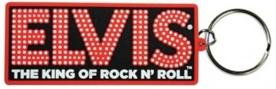 Bombay Merch Elvis Presley King of Rock N Roll Rubber Key Chain