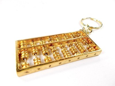 Anjalika Golden Abacus Locking Key Chain