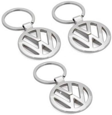 Homeproducts4u Volks Wagen Metal Key Chain - Pack Of 3 Key Chain