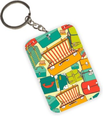 The Crazy Me Vintage Luggage Travel Key Chain