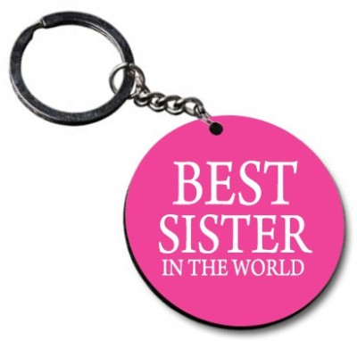 Shoppers Bucket Best Sister in the World Key Chain