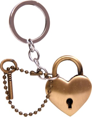 Oyedeal Heart with Lock and Key Metal KYCN1505 Key Chain