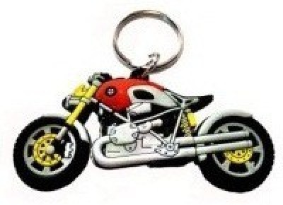 Ezone BMW Rubber Bike Key Chain Key Chain(RED) Carabiner