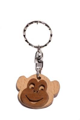 JM Kcd Monkey Smiley Key Chain
