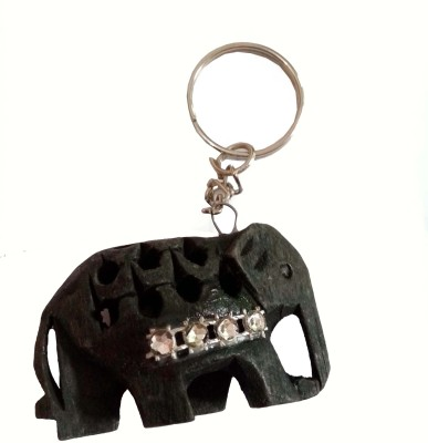 JaipurCraft black elephant Key Chain