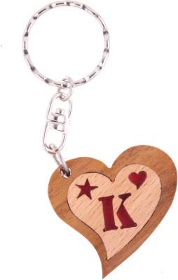 JM Alphabet K Heart Key Chain