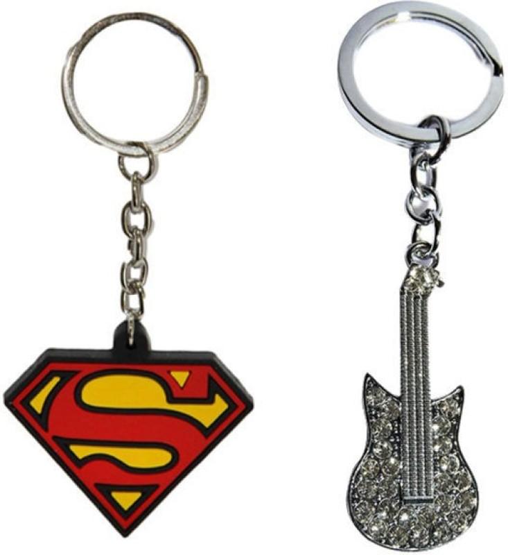 Alexus Superman And Guitar Key Chain