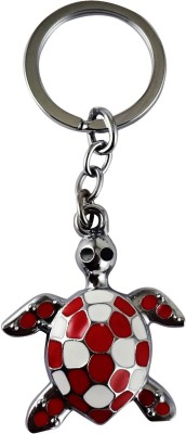 Target Retail FENGSHUI TORTOISE RED AND WHITE KEYRING Key Chain(Multicolor)