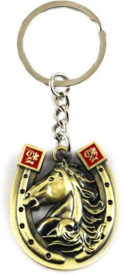 Target retail HORSE ANTIQUE GOLDEN KEYRING Key Chain