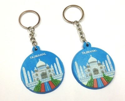 Kairos Pack of 2 Beautiful Taj Rubber Silica Key Chain