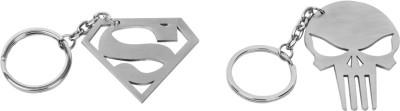 Castor Punisher Superman Locking Key Chain