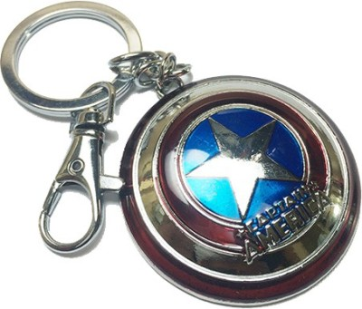 AB Posters Captain America Shield Locking Key Chain