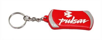 Aditya Traders Pulsar Red Rubber With Metal Ring Key Chain