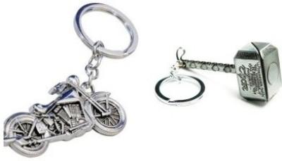 AMR THOR SILVER HAMMER AND BIKE Key Chain