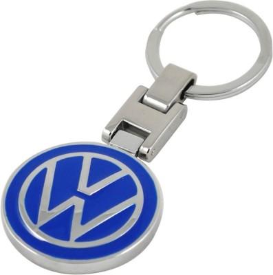 Homeproducts4u Volkswagen Metal Silver Round Key Chain Key Chain