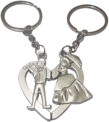 ShopnGift Bride Groom Umbrella Key Chain