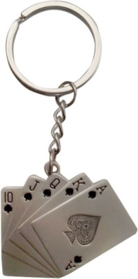 New Pinch Playing Card Metal Key Chain