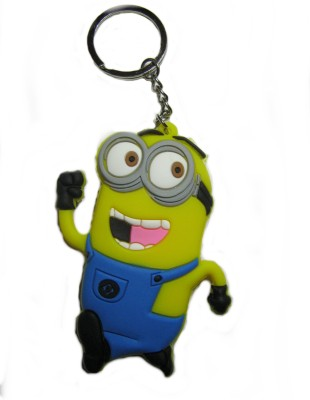 Optimum Deal Minnion Figure Double Sided Rubber Key Chain