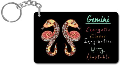 Lovely Collection Zodiac Sign Gemini Key Chain