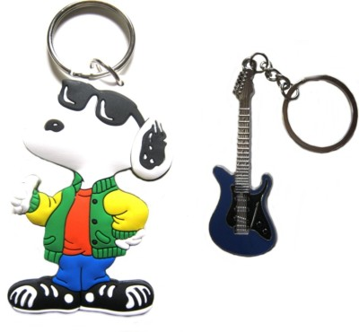 Optimum Deal Cute Cartoon Character Dog Figure (M11) Double Sided Rubber Key Chain