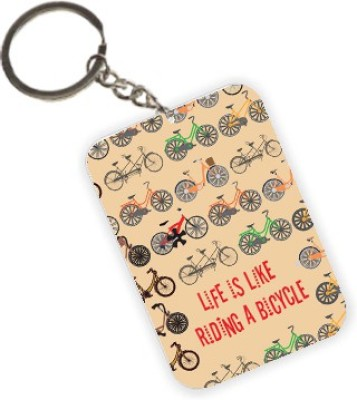 The Crazy Me Riding a Cycle Key Chain