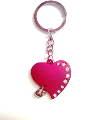 KeepSake Red Crystal Heart Key Chain