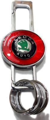 Aditya Traders CLASSY FULL METAL SKODA CAR KEYCHAIN Locking Carabiner