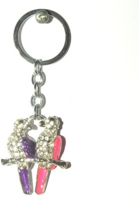 Odisha Bazaar Handbag Buckle Charms Accessories Purple Pink Love Bird Key Chain