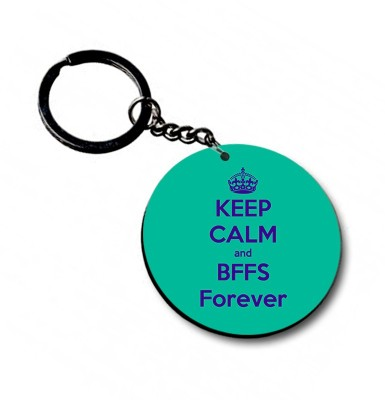 Shoppers Bucket BFF Forever Circle Key Chain
